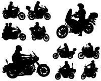 Силуэты мотоциклистов бесплатная иллюстрация