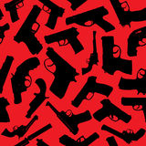 Силуэты оружий Стоковое Фото