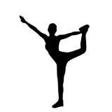 Силуэты разминки тренировки женщины фитнеса спорта Стоковое Изображение