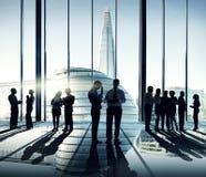 Силуэты разнообразной группы в составе бизнесмены Стоковые Фото