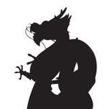 Силуэты дракона Стоковое фото RF