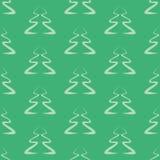 Силуэты рождественских елок Стоковое Изображение