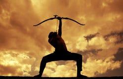 Силуэты лучника Стоковая Фотография