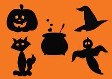 Силуэты хеллоуина Стоковое Изображение RF