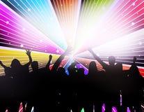 Силуэты людей танцуя Стоковое фото RF