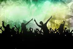 Силуэты людей танцуя Стоковая Фотография RF