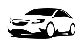 Силуэт автомобиля современный Стоковые Фото