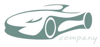 Силуэт автомобиля спорт Стоковое фото RF