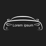 Силуэт автомобиля также вектор иллюстрации притяжки corel Стоковые Изображения