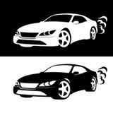 Силуэт автомобиля Стоковое фото RF