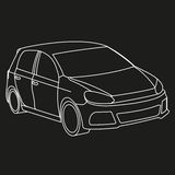 Силуэт автомобиля Стоковая Фотография