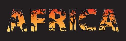 Африка иллюстрация штока