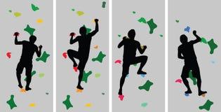 Силуэт альпиниста бесплатная иллюстрация