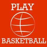 Силуэт баскетбола Стоковые Изображения