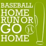 Силуэт бейсбола Стоковое Изображение RF