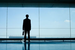 Силуэт бизнесмена Стоковое Изображение RF