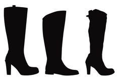 Силуэт ботинок Стоковая Фотография RF