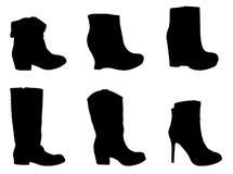 Силуэт ботинок Стоковые Фото