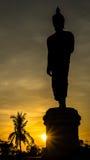 Силуэт Будда Стоковое Изображение
