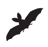 Силуэт вектора летучей мыши летания иллюстрация штока