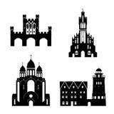 Силуэт вектора ориентир ориентиров Калининграда Бесплатная Иллюстрация