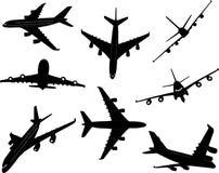 Силуэт вектора самолетов 2 стоковая фотография