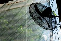 Силуэт вентилятора Стоковые Изображения RF
