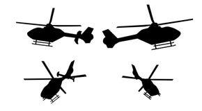 Силуэт вертолета Стоковые Изображения RF