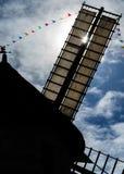 Силуэт ветрянки Hauville & x28; Франция, Normandy& x29; Стоковое Изображение