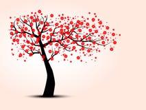 Силуэт вишневых деревьев Стоковые Изображения RF
