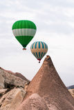 Силуэт воздушного шара в небе Стоковые Фотографии RF