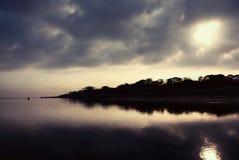 Силуэт восхода солнца Стоковые Изображения