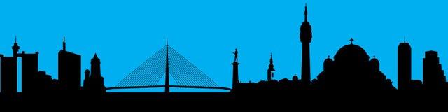 Силуэт горизонта города вектора Стоковое Фото