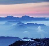 Силуэт горы Стоковое Фото