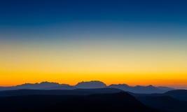 Силуэт горы Стоковое Изображение RF
