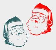 Силуэт головы Санта Клауса Стоковые Изображения