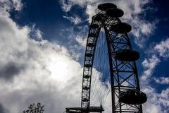 Силуэт глаза Лондона Стоковое Изображение