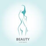 Силуэт девушки в логотипе шаблона профиля или abstr