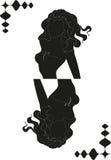 Силуэт девушки в форме карточки Стоковые Изображения