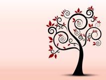 Силуэт дерева заполнил с чувством искусства Стоковые Фотографии RF