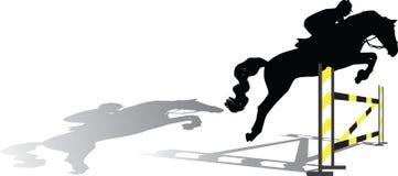 Силуэт жокея Стоковая Фотография RF