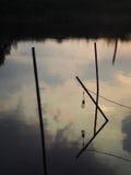 Силуэт захода солнца восхода солнца Стоковое фото RF
