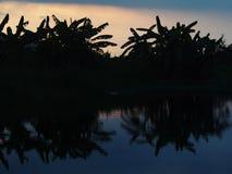 Силуэт захода солнца восхода солнца Стоковые Фотографии RF