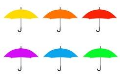 Силуэт зонтиков Стоковые Фото