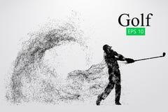 Силуэт игрока гольфа также вектор иллюстрации притяжки corel иллюстрация вектора