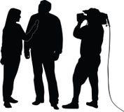 Силуэт интервью  бесплатная иллюстрация