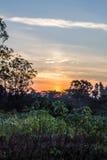 Силуэт и восход солнца Стоковая Фотография