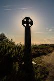 Силуэт кельтского креста Стоковые Фотографии RF