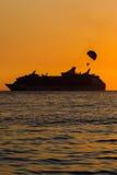Силуэт корабля Стоковая Фотография RF