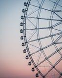Силуэт колеса ferris стоковые изображения rf